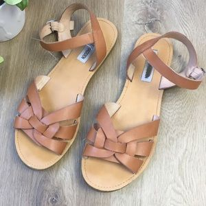 Steve Madden Brown Sandals with Ankle Strap sz 9